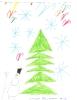 Снеговик у елки